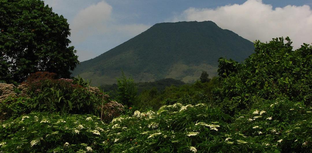 Hiking to Mt. Gahinga